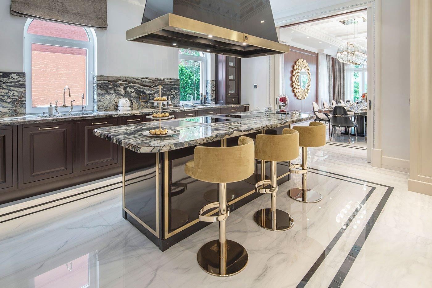 interior photo of a luxury villa in dubai