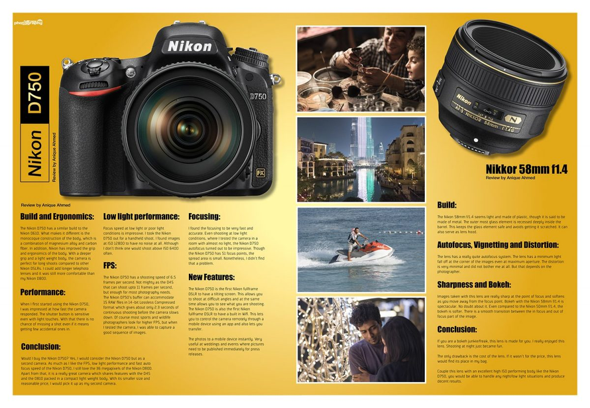 double page review in the fullframe magazine