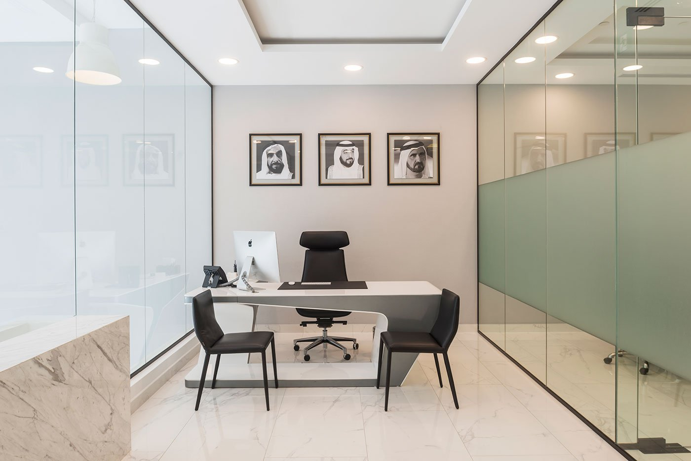 office cabin at al hilal homes office in dubai