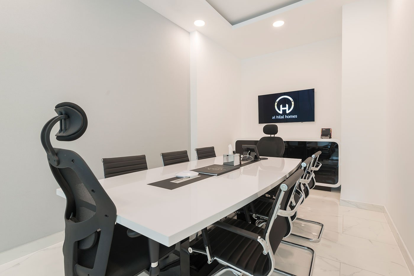 interior of a meeting room at an office in dubai