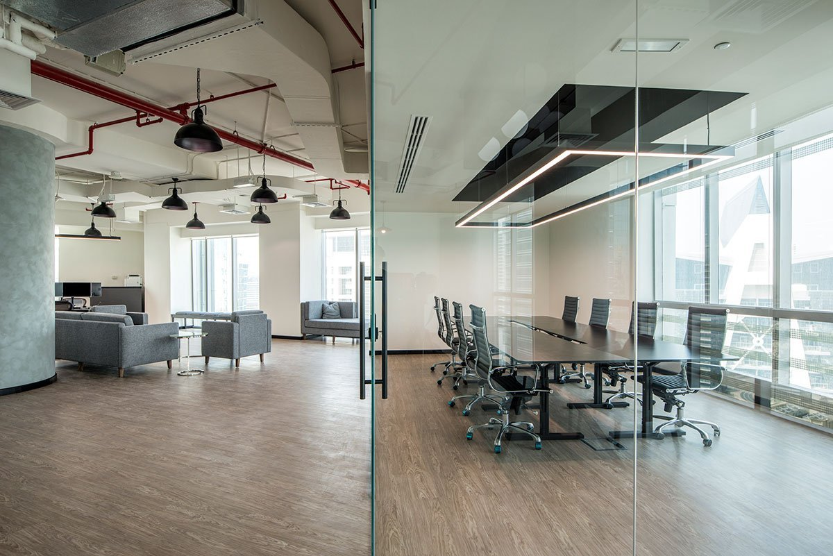 meeting room at an office in dubai