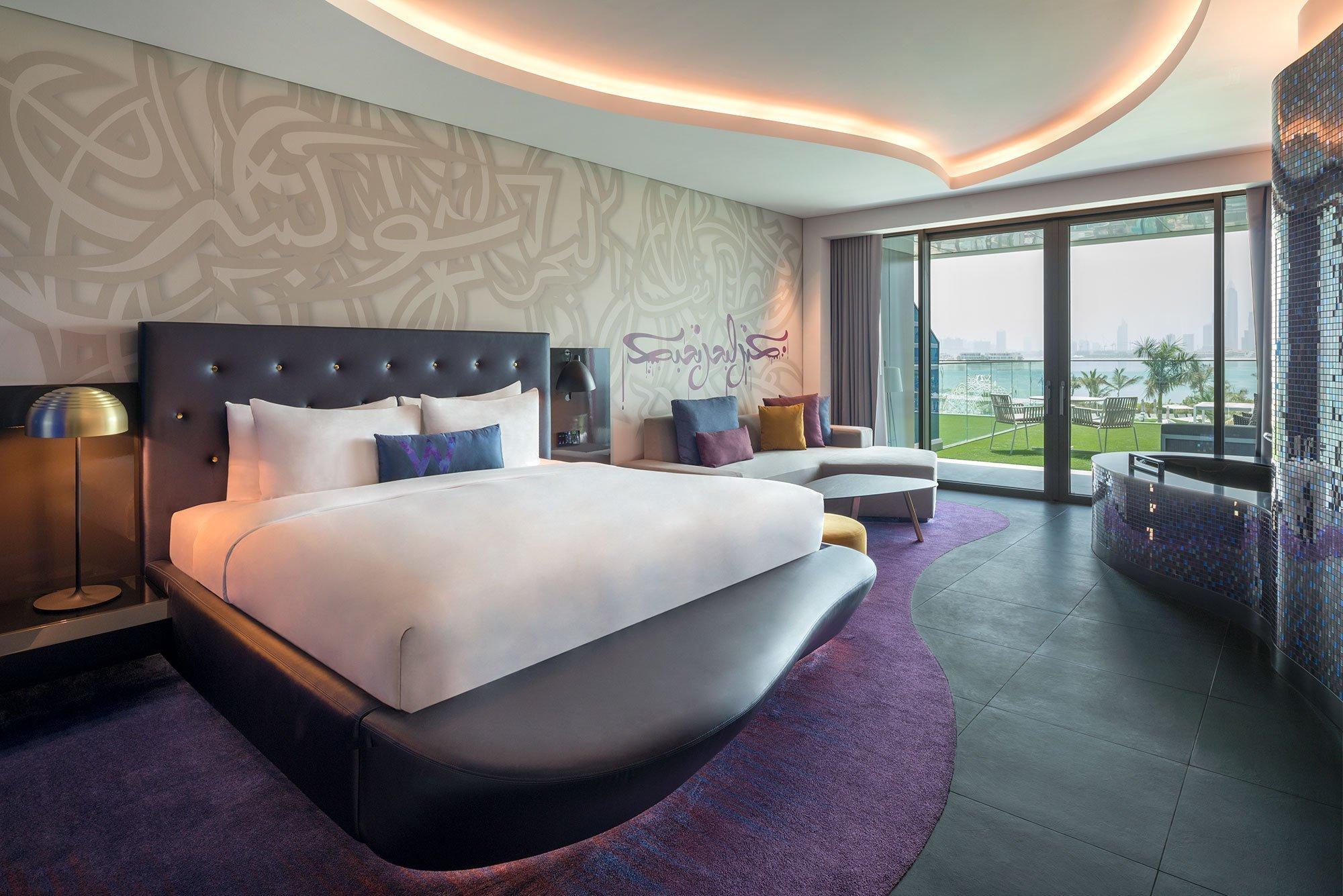 hotel room at the W Palm Dubai