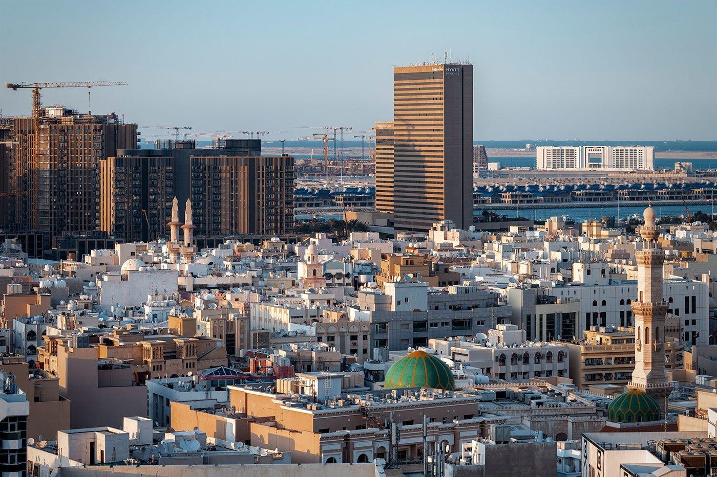 old Dubai and Hyatt Regency in Deira