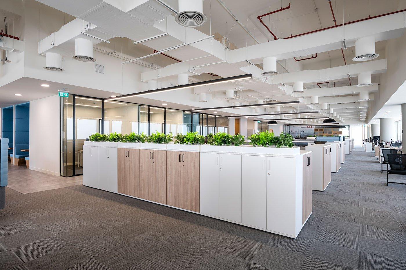 open plan office at abb dubai
