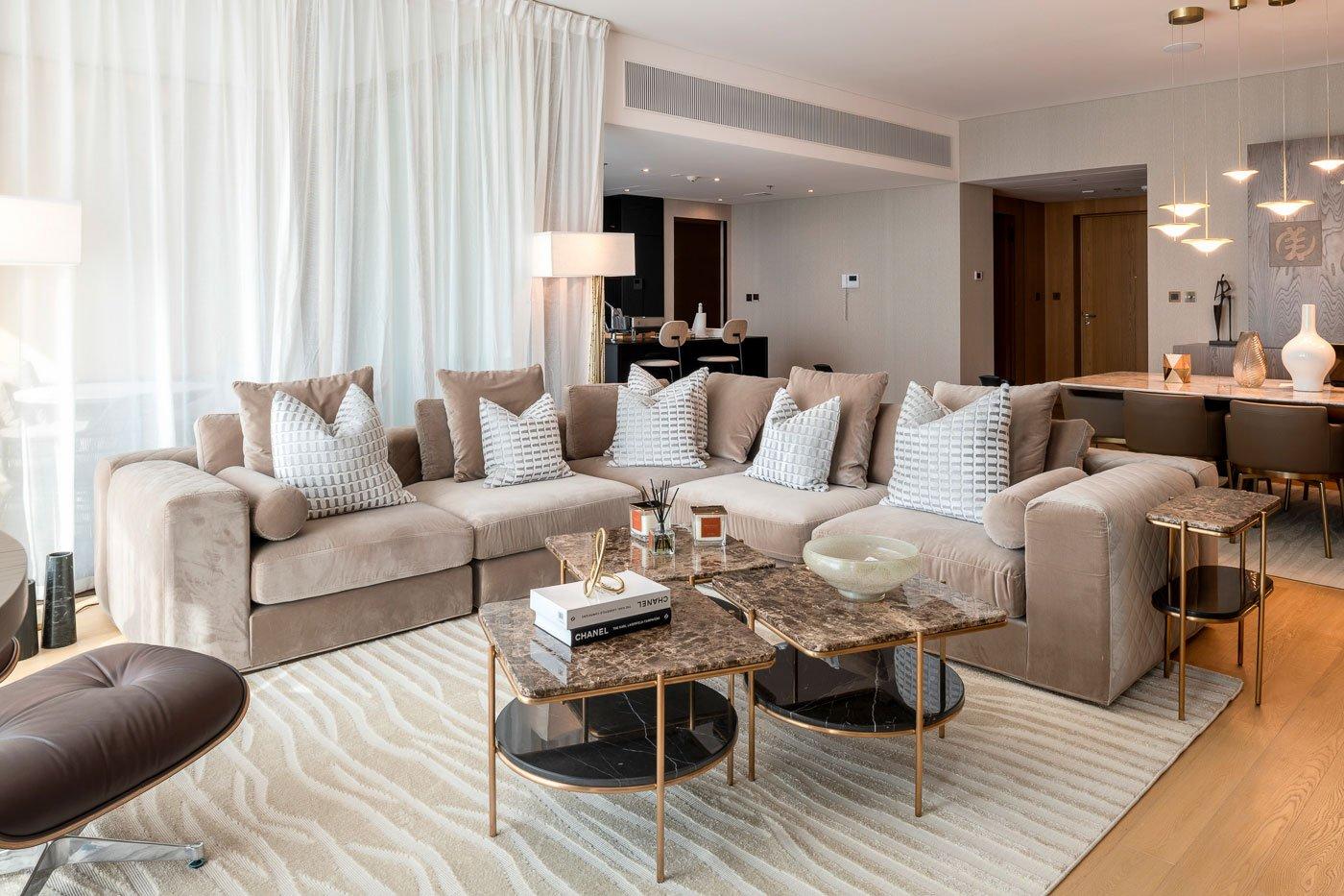 living room at bvlgari residences