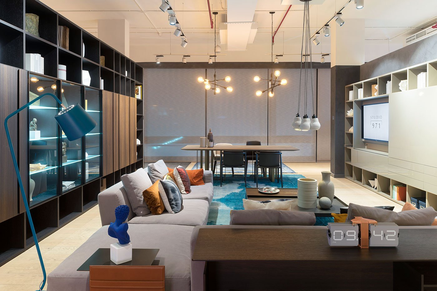 corporate showroom interior